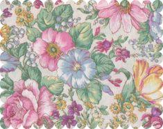 Bundle Remnant Polycotton Fabric 35 cm x 112 cm Vintage Flower Floral Rose CREAM