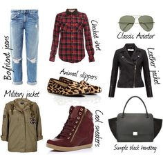 My favourite fall pieces :) Classic Leather Jacket, Fall Must Haves, Jean Shirts, Military Jacket, Slippers, Jeans, Polyvore, Jackets, Inspiration