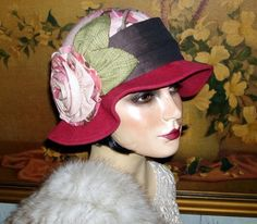 Coquette Cloche Couture 1920s Vtg Downton Abbey Flair Flapper Hat | eBay