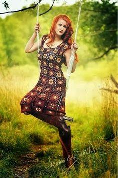 Pretta Crochet: Vestidos de squares