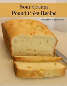 about Pound cake... on Pinterest | Sour cream pound cake, Pound cakes ...
