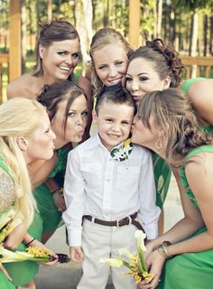 Need a picture like this with Parker and the bridesmaids!