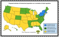 The Secular Homeschool Community - US Homeschooling Population by State: Does State Regulation Play a Part?
