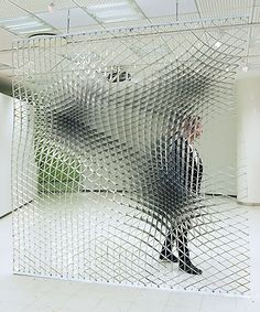 Sheer Wall, the ambivalent spatial quality. Jesse Pietilä's Sheer Wall has been… Parametric Architecture, Parametric Design, Interior Architecture, Wall Design, Design Art, Logo Design, Instalation Art, Digital Fabrication, Sculpture Art
