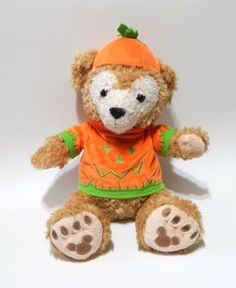 Disney-Parks-Duffy-Hidden-Mickey-Teddy-Bear-Halloween-Pumpkin-Costume-Plush-15-034