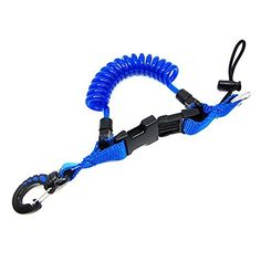 Scuba Choice Diving Shark Coil Lanyard with 1 Snap and Quick Release Buckles Blue - http://scuba.megainfohouse.com/scuba-choice-diving-shark-coil-lanyard-with-1-snap-and-quick-release-buckles-blue/