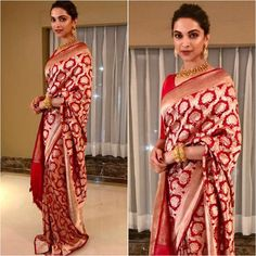 From cotton to silk sarees, from stylish half sarees to statement lehenga sarees, here are the top & latest designer saree images for every occasion. Come, take a look. Red Saree Wedding, Wedding Wows, Bridal Lehenga, Wedding Bride, Indian Dresses, Indian Outfits, Banarsi Saree, Silk Sarees, Lehenga Blouse