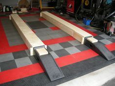 Awesome diy car ramp the middle section comes out after the car is barrys 18x20 garage page 6 the garage journal board solutioingenieria Choice Image