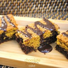 Chocolate Pumpkin Snack Cake: perfect for breakfast or an after school treat!
