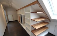Beauteous Attic storage live load,Attic bedroom ideas uk and Attic bedroom with slanted walls. Loft Storage, Room Design, Big Bathrooms, Home, Closet Bedroom, Built In Wardrobe, House Interior, Loft Room, Build A Closet