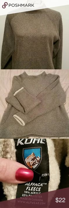 Cozy Kohl Fleece Pullover Meet your new favorite piece of clothing. So cozy and warm, you'll want to live in this. Very good used condition with a little bit of pilling that will come right off with a sweater shaver. Kuhl Jackets & Coats
