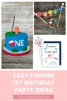 The best ideas for hosting a Fishing Birthday Party for kids. O'fishally one birthday party ideas including invitations, cookies, cake, and decorations. 1st Birthday Party Themes, Birthday Invitations Kids, Boy Birthday, Girl Fishing, Fishing Boots, Fishing Rod, Fishing Reels, Fishing Tackle, Picture Banner