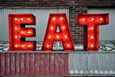 Diner Letters  Weathered Marquee Letters by Satelluxe on Etsy, $225.00