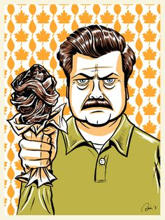 "Ron Swanson from ""Parks and Recreation"" by Hefnatron.deviantart.com on @deviantART"