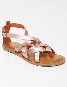 Here they are: the sandals you'll wear every single day. Woven straps with adjustable ankle strap. Wide widths. lanebryant.com