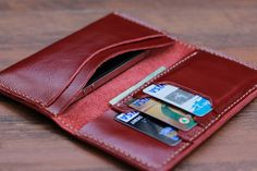 Red iPhone 5 Clutch Wallet Case -- Women's Leather Wallets - Available in 7 Brilliant Colors
