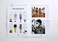 Red Fleece Editorial Newspaper by Stephanie Toole, via Behance