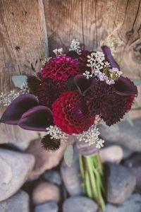 orchid and plum wedding bouquet #weddingbouquet #bouquet #weddingchicks http://www.weddingchicks.com/2014/01/17/jackson-hole-wedding/