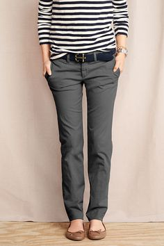 A pair of grey or blue straight leg chinos would be great for work.