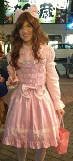 Hello, sorry to hijack your thread but I recently tried brolita for the first time on Halloween and I'd like to hear everyone's scathing o. Pretty Outfits, Pretty Dresses, Brolita, Feminized Boys, Tv Girls, Lolita Dress, Lolita Fashion, Dress Up, Men Dress