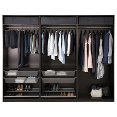 Walk in closet - one in each wall ~ PAX Wardrobe - IKEA