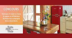 Concours Gagnez un réfrigérateur 30 pouces rouge bonbon de la compagnie Elmira Stove Works! Candy