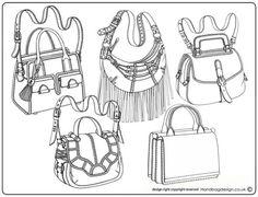 Handbag / Purse design illustration sketch drawing / Hand rendering by Emily…