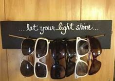 creative sunglasses storage wall - Bing Images