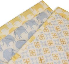 WeBe - Baby's Quilted Mat - Blue Elephant Print