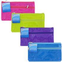 Jot Sparkling Zippered Pencil Bags