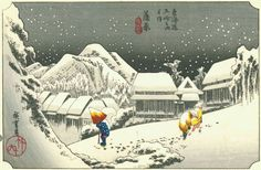 "Via HuffPost Arts & Culture: If you're hoping for a white Christmas, here's a selection of Snow Scenes in Art. The Japanese woodblock print ""Night Snow at Kambara"" (pictured here) is part of The DAI's collection! http://www.huffingtonpost.com/2014/12/19/snow-in-art_n_6357618.html"
