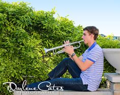 Senior Portraits, Outdoor Senior Portraits, Friendswood Senior Portraits, Trumpet Senior Portraits, Senior Guys, Friendswood High School Senior Picture Props, Senior Picture Makeup, Male Senior Pictures, Picture Poses, Picture Ideas, Band Photography, Teen Photography, League City