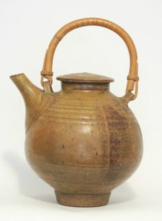 DAVID SHANER - Teapot with Bamboo Handle Archie Bray Master Studio Pottery