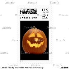 Carved Smiling Halloween Pumpkin
