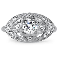 The Uma Ring from Brilliant Earth: ravishing ring from the Art Deco era (approx 0.94 ct. tw.) $4,865