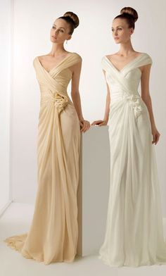 Soft by Rosa Clara wedding dress Off Shoulder Wedding Dress Simple, Simple Bridal Dresses, V Neck Wedding Dress, Wedding Dresses Photos, White Wedding Dresses, Cheap Wedding Dress, Bridal Gowns, Wedding Gowns, Bridesmaid Dresses