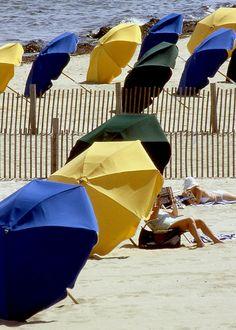 Beach Unbrellas, Nantucket #travel #massachusetts Credit: Michael Galvin