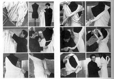Azzedine Alaïa showing how to drape a dress designed by Madeleine Vionnet in 1935 Draping Techniques, Fashion Calendar, Diana Vreeland, Madeleine Vionnet, Azzedine Alaia, Couture Details, Anna Wintour, Great Photographers, Traditional Fashion