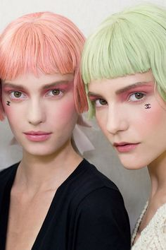 Chanel's pastel hair