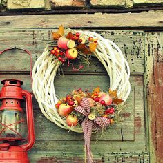 Zastygła Natura Diy Wreath, Grapevine Wreath, Fall Wreaths, Summer Wreath, Diy And Crafts, Handmade Items, Christmas Decorations, House Design, Holidays