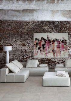 Mooie muur en kleuren i.c.m. vloertegels
