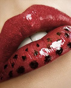 Amazing Lips & Eyes Make Up Lady Bug Makeup, Lip Makeup, Nice Lips, Lip Colors, Colours, Dark Red Lips, Glossy Lips, Black Lips, Red Black
