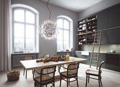 Oscar Properties #oscarproperties  Stockholm - Farmaceutiska - Lyceum - kitchen - windows - lamp - interior - design - architecture