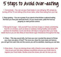 5 steps to avoid over-eating