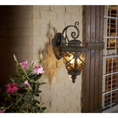 Allen Roth Grandura 22 63 In H Marcado Black Outdoor Wall Light At Lowes