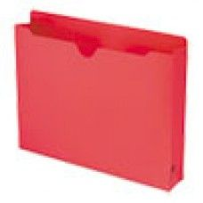 Desk Supplies>Desk Set / Conference Room Set>Holders> Files & Letter holders: Colored File Jackets with Reinforced Double-Ply Tab, Letter, Red, 50/Box