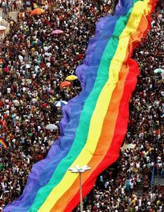 Gay Pride Parade. proud to say.. I will be on a float this year(: check that off my bucketlist.