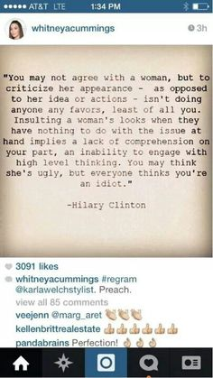 This applies to everyone: just don't insult someone's appearance instead of their argument