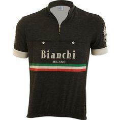 3e818279d1271f Bianchi-Milano Hozan Black Italian Wool Short Sleeve Jersey