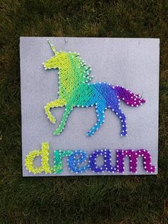 Unicorn String Art | String art, Unicorns and Etsy
